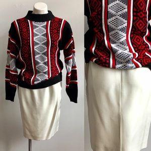 Vintage Tahari Winter White Silk Skirt
